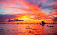 ボラカイ島の醍醐味はサンセットクルーズ!海に沈む夕陽を見逃さないで