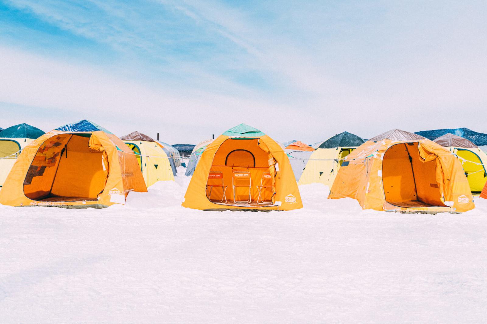 阿寒湖(あいすランド阿寒)のワカサギ釣り体験