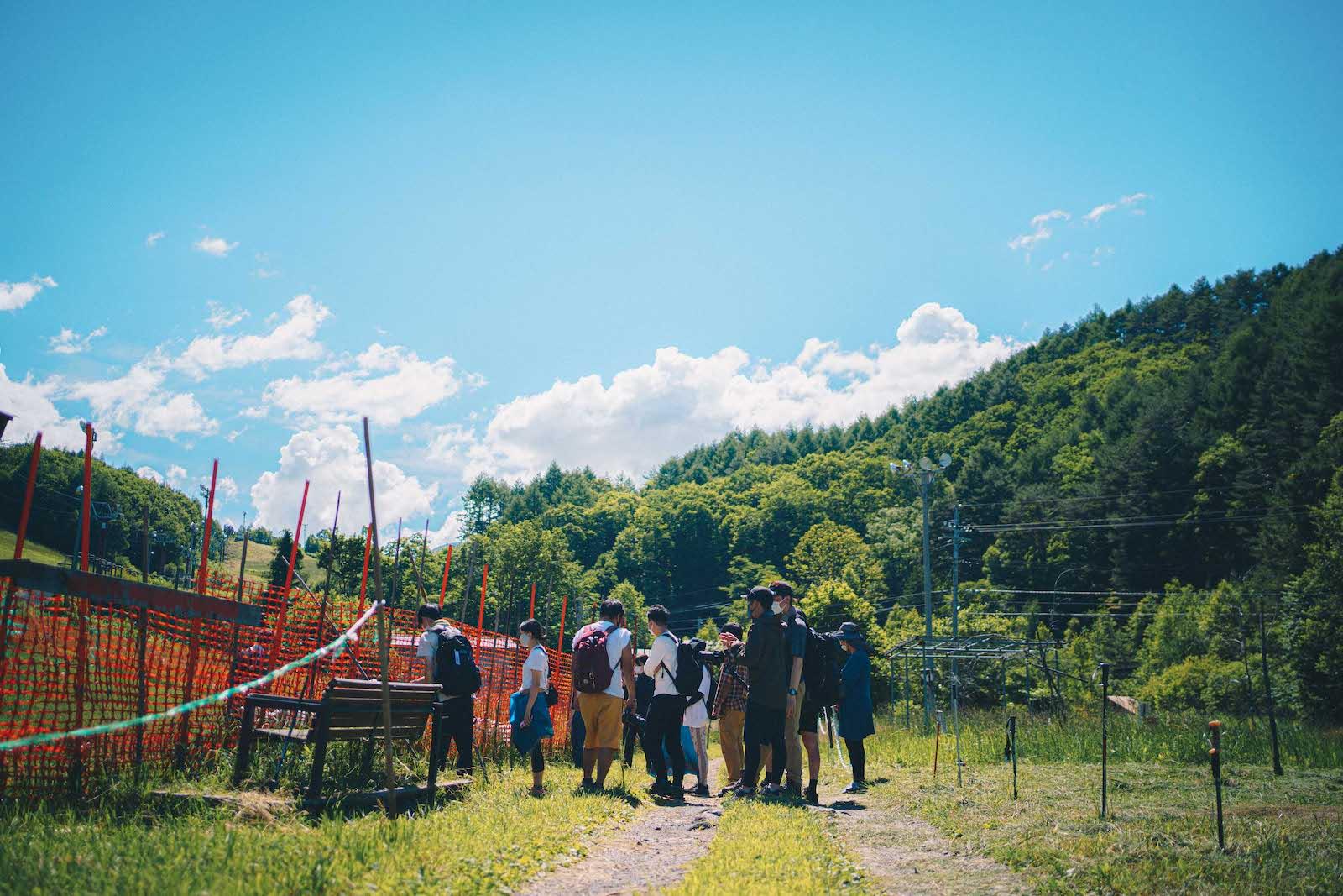 夏の乗鞍高原の農園