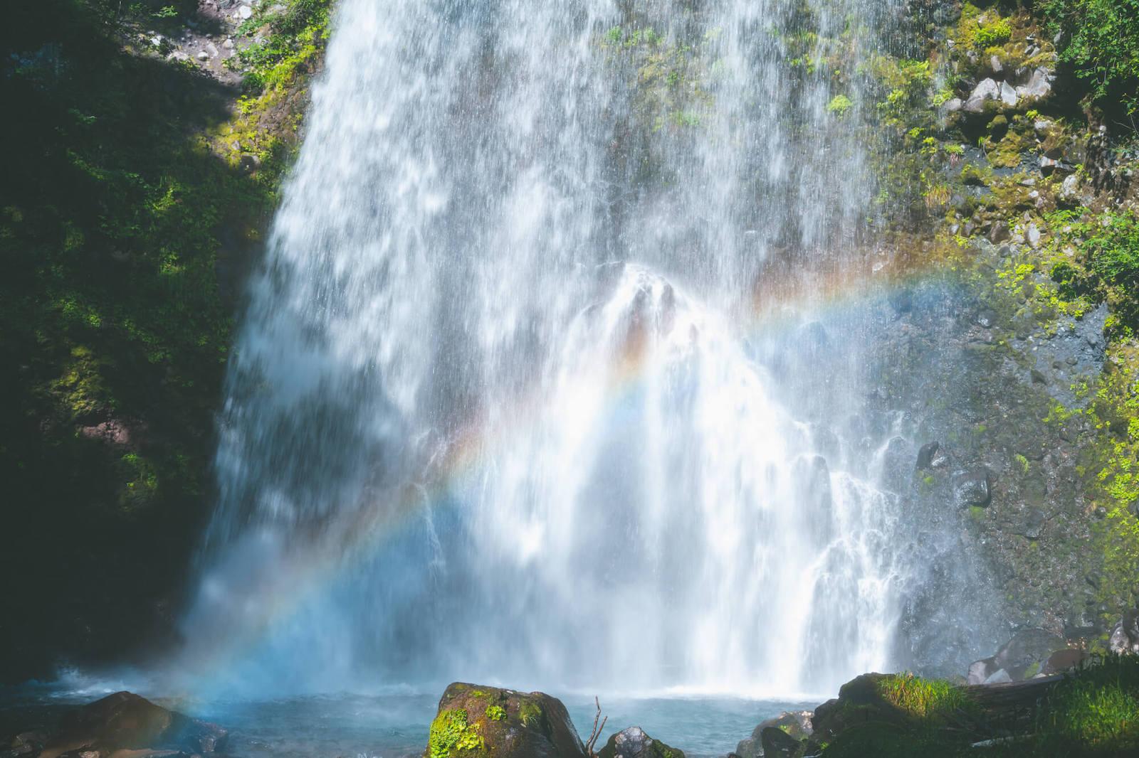 乗鞍高原 善五郎の滝と虹