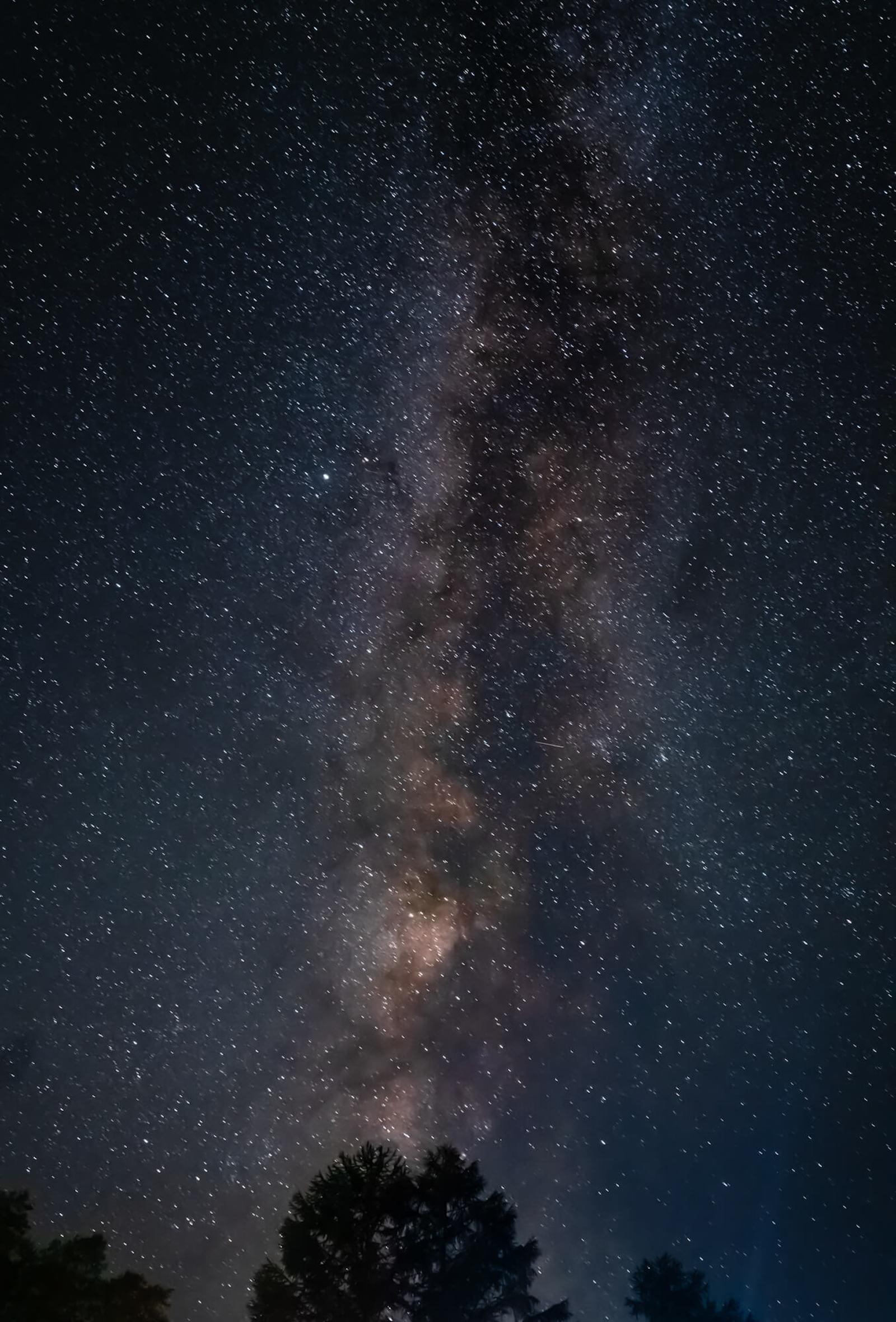 乗鞍高原の夏の星空 天の川