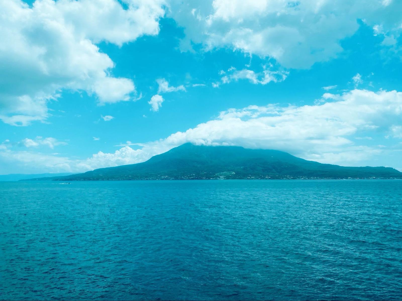 桜島フェリーからの景色