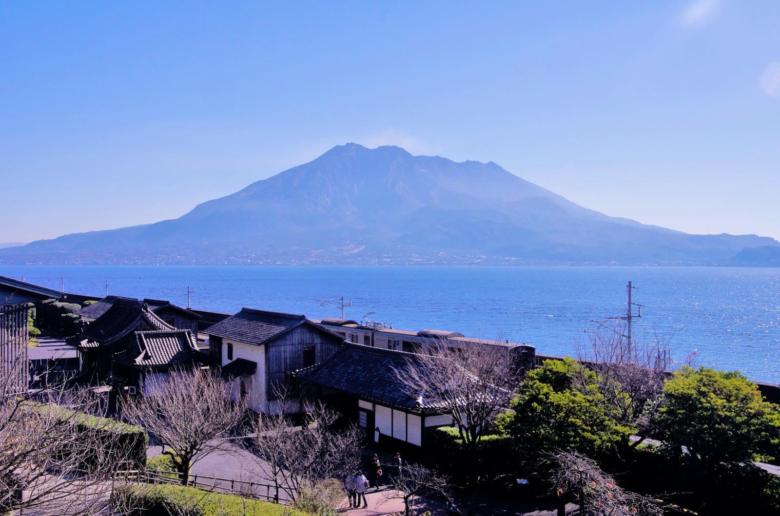 鹿児島県桜島の景色
