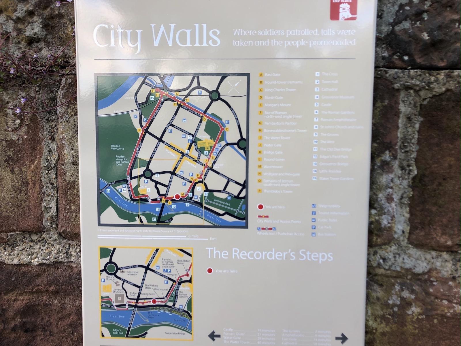 イギリス チェスターの城壁2