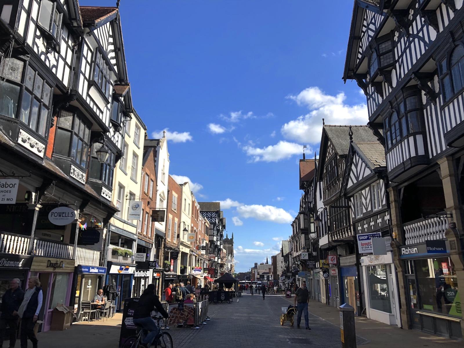 イギリス チェスターの町