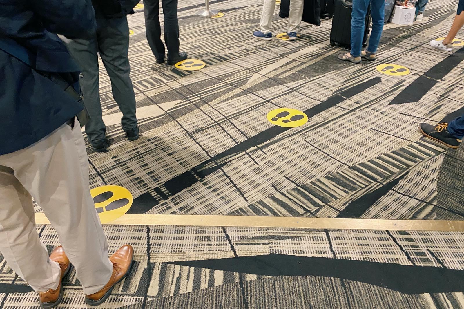 チャンギ空港での誘導