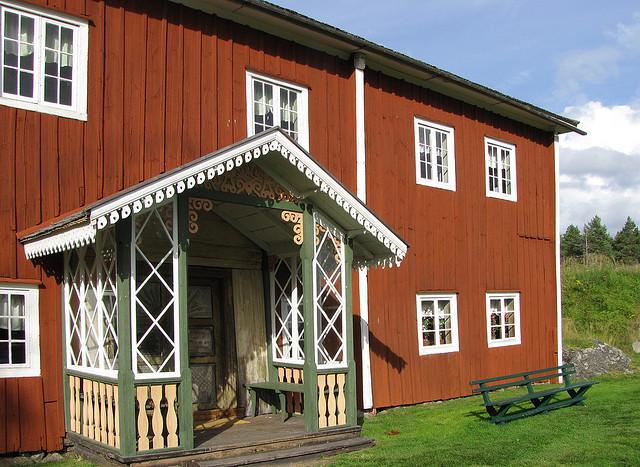 ヘルシングランドの装飾された農夫の家