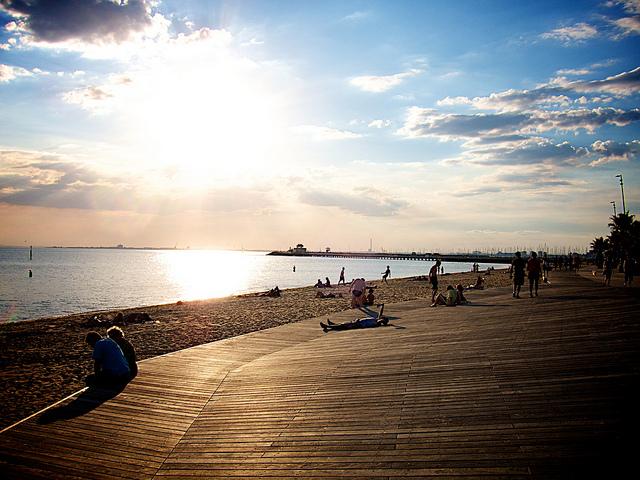 メルボルンの美しいビーチセイントキルダビーチ