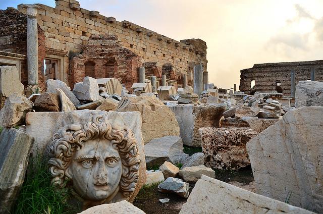 レプティス・マグナの古代遺跡