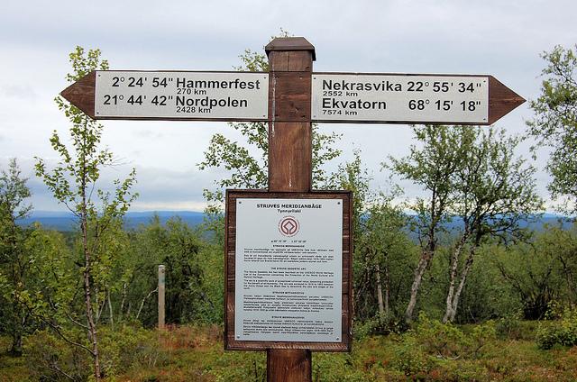 シュトゥルーヴェの三角点アーチ観測地点群(スウェーデン内)