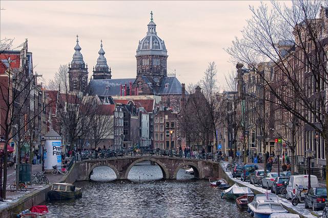アムステルダムの17世紀の運河地区