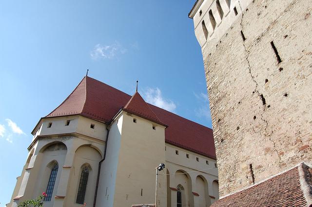 トランシルヴァニア地方の要塞教会群のある集落