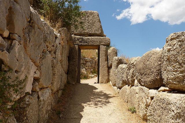 ミケーネとティリンスの古代遺跡群