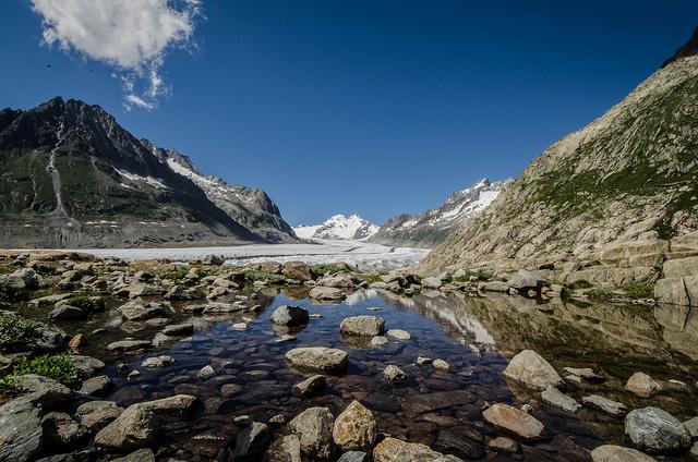 アルプス山脈最長の氷河「アレッチ氷河」