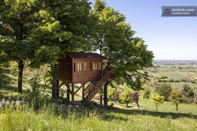 airbnbでツリーハウスに泊まる