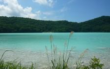湖の色が変わる!宮城県大崎市にある潟沼が輝く