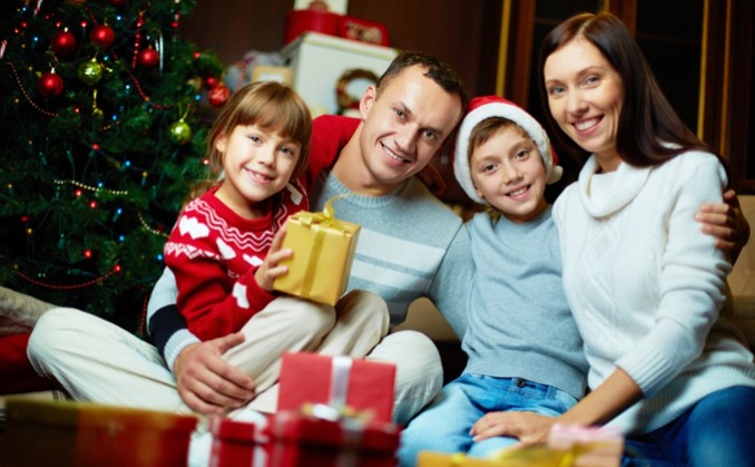 クリスマスの家族