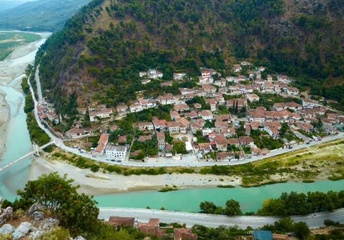 アルバニアの町