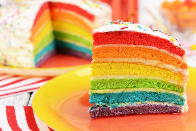 アメリカ人の作るケーキは青いと思ってた