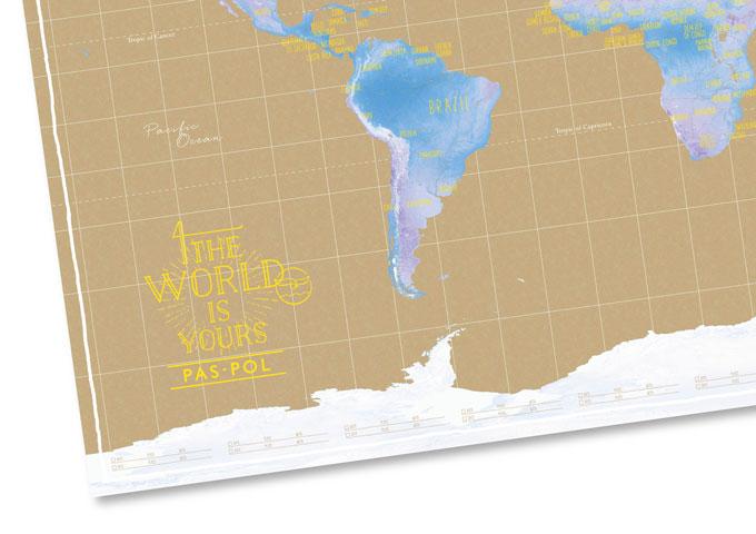 こんなオシャレな世界地図が早くほしかった飾って塗って自分の旅